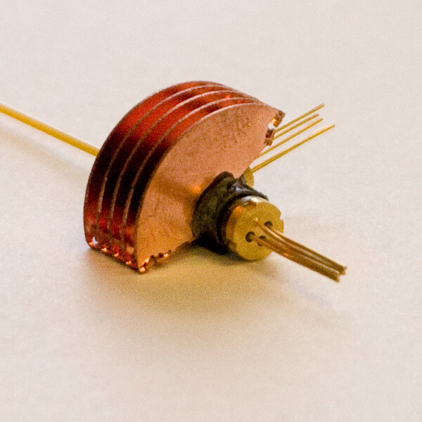 Copper Heatsink for a Laser Diode in Optical Communications
