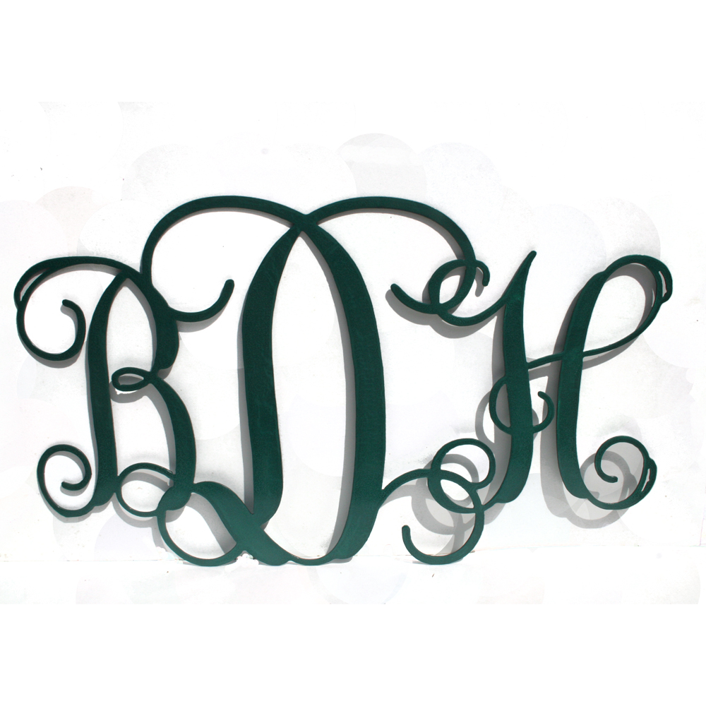 Metal Initials Beauteous Initials For Wall Inspiration Design