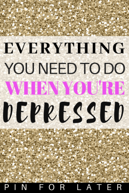Things to do when depressed. Try these mental health coping tips and tricks to manage depression symptoms #depressed #depression #mentalhealth