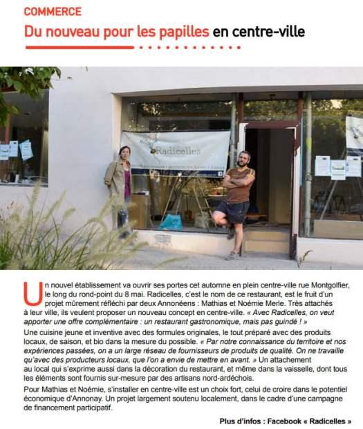 Radicelles Annonay Magazine
