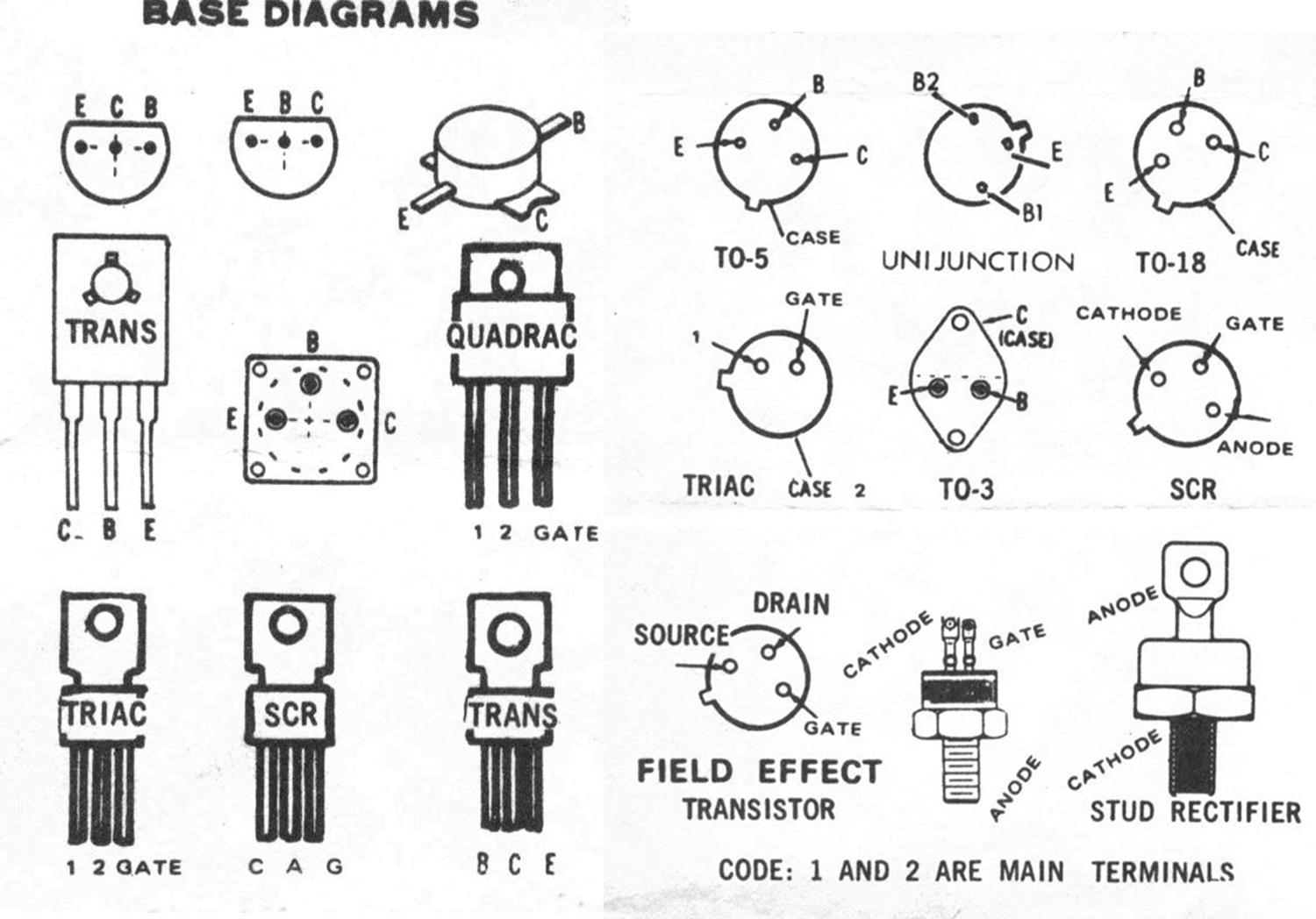 Transistor Pinout Chart Industrial Electronic Components