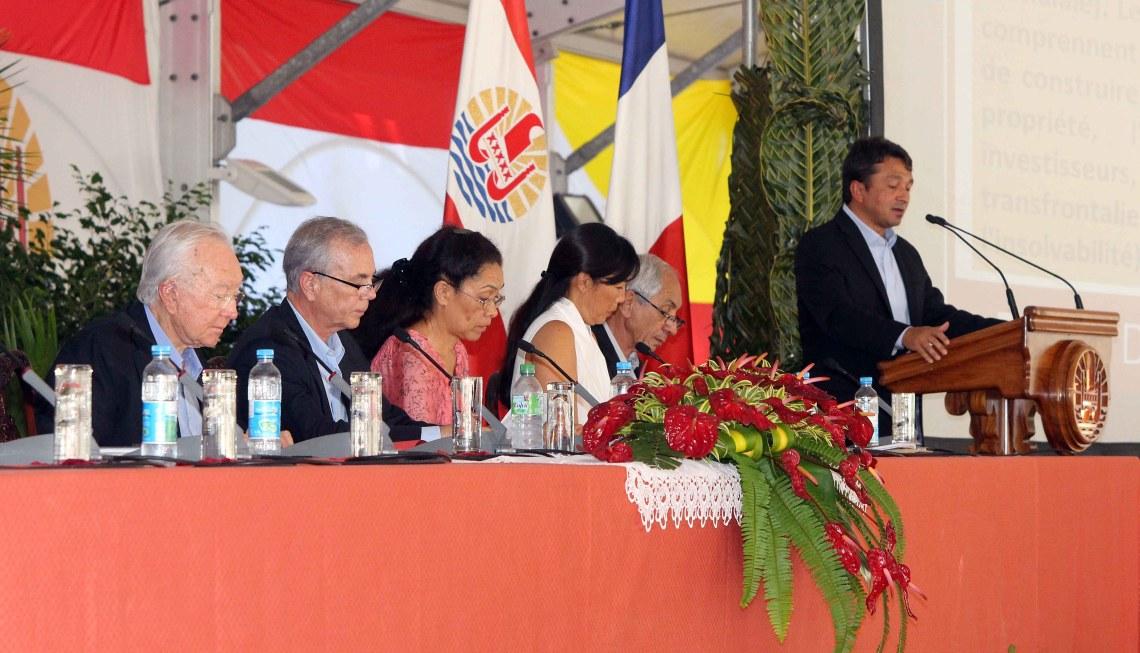 Niuhau Laurey annonce les 50 mesures du plan de relance © Présidence