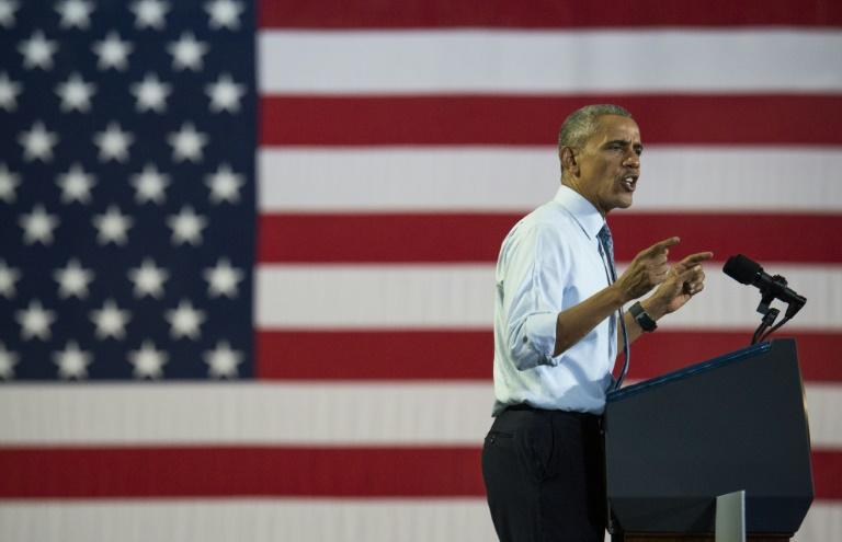 Barack Obama, le 1er novembre 2016 à Columbus (Ohio). © AFP