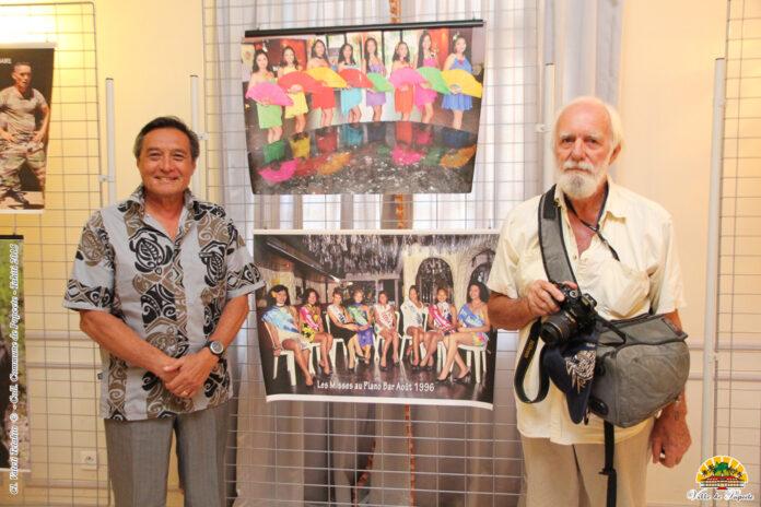 À l'occasion de son exposition Manava à Papeete en 2015 Crédit Ville de Papeete