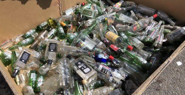 déchets-clean up day-nautisport-bouteilles verre