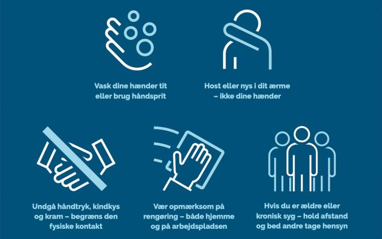 Die aktuellen Hinweise der dänischen Gesundheitsbehörde - einfach dran halten und weiterhin entspannt nach Bornholm reisen (Bild: Sundhedsstyrelsen.dk)