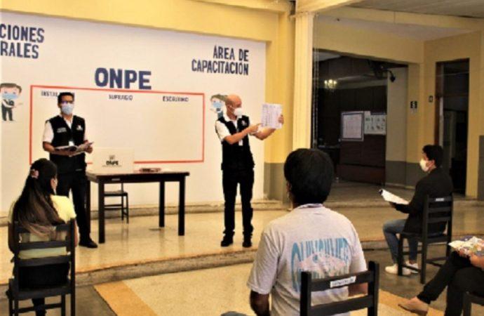 ONPE: Capacitación para miembros de mesa se realizará el domingo 28 de marzo