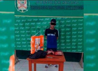 Utcubamba: Menor de edad es intervenido con pertenencias robadas