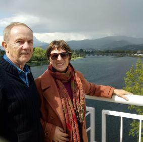 Professor Jorge e professora Ivete Hermann
