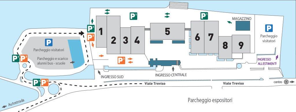 mappa Visita Scolastica a Fiera del Radioamatore Hi Fi Car di Pordenone