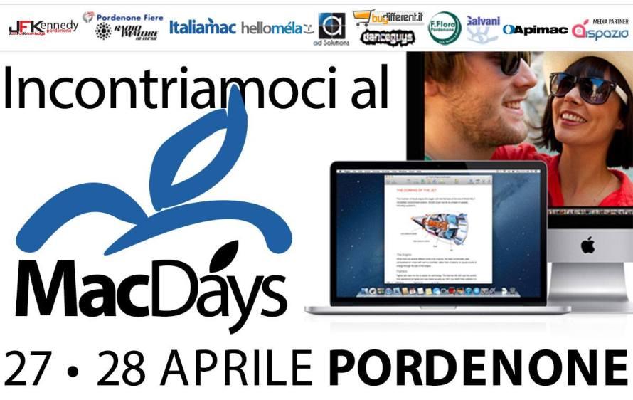 locandina macdays 2013 890x562 MacDays 2013 a Pordenone, l'evento per gli appassionati della mela di Steve Jobs