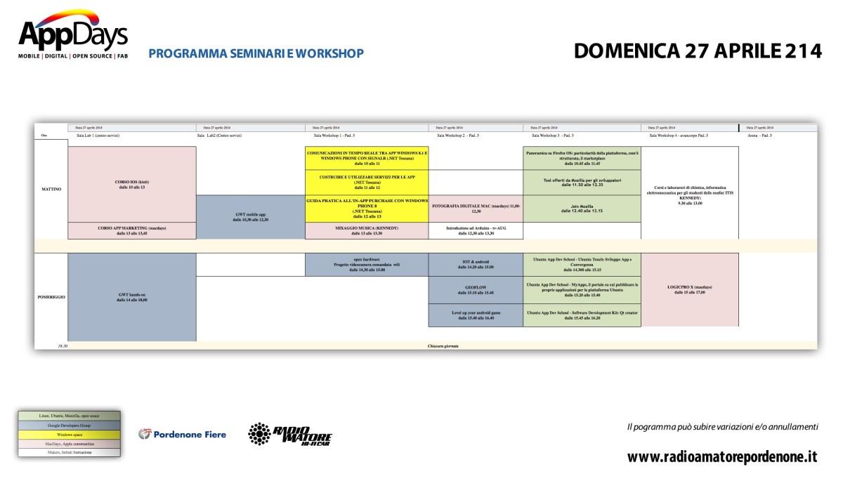 ProgrammaAppDaysDomenica27Aprile2014 1200x685 Calendario, programma e orari workshop AppDays 2014
