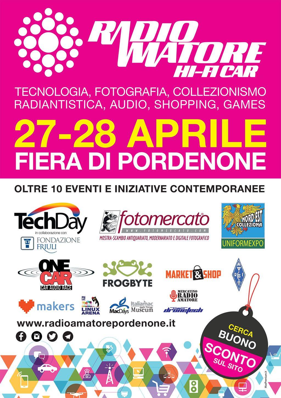 Z Volantino A5 A Primo flyer informativo della nuova edizione di Radioamatore Pordenone