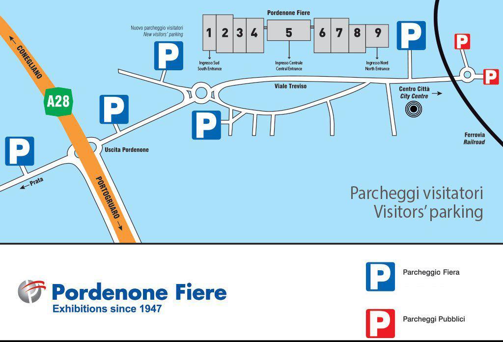 parcheggi visitatori 2020 Visita Scolastica a Fiera del Radioamatore Hi Fi Car di Pordenone