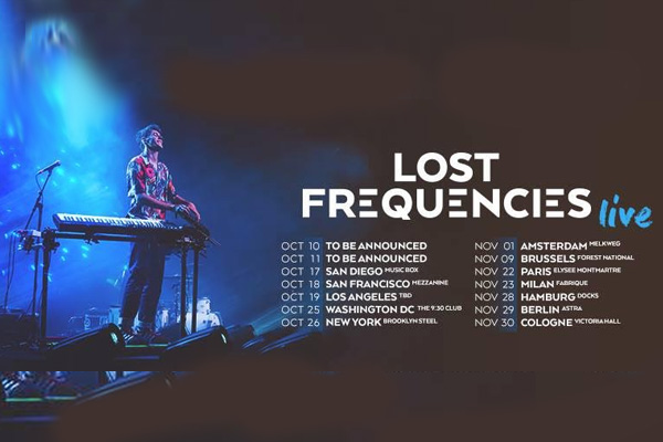 LOST FREQUENCIES ANNOUNCES ALL-NEW LIVE SHOW FOR 2019 ACROSS EUROPE AND THE U.S.A. – COMING THIS WINTER ile ilgili görsel sonucu