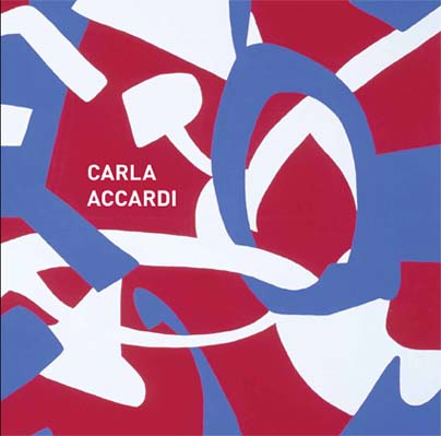 Invitation to Carla Accardi exhibition
