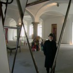 Michelangelo Pistoletto with his installation