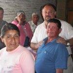 Ariel Barroso festejò con los jubilados su día.