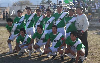 Equipo de Rivadavia que empato con San Isidro el último fin de semana
