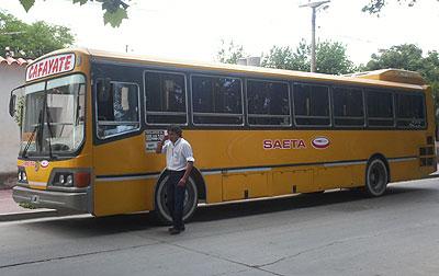 Colectivo de la empresa de transporte SAETA