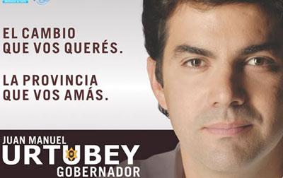 Afiche de campaña del Gobernador Juan Manuel Urtubey en 2007