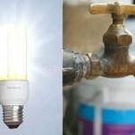 Fuerte aumento en los servicios de luz y agua
