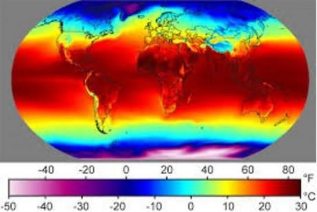 Imágenes de la temperatura global por satélites de la NASA. Foto: Archivo / NASA - See more at: http://www.cadena365.com/index.php/el-2014-se-encamina-a-ser-el-ano-mas-caluroso-registrado-en-la-tierra