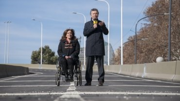 Macri anunciando que Michetti será su candidata a vice