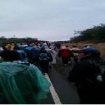 Los peregrinos tuvieron lluvia antes de Talapampa y llegaron a La Viña