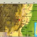 En Cafayate también se registró un temblor