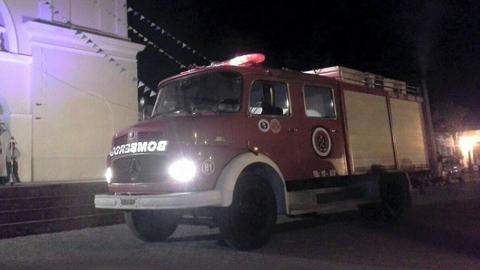 La autobomba adquirida para los Bomberos Voluntarios de San Carlos
