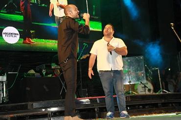 Abel Pintos y Juan Fuentes en el escenario Payo Sola