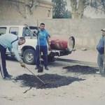 Municipio abandonado: otra vez los vecinos arreglan las calles por su cuenta
