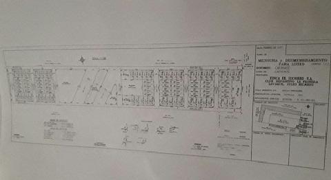 El plano del loteo planificado por la CCC