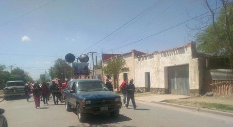 Los peregrinos de Jasimaná en su llegada a Cafayate