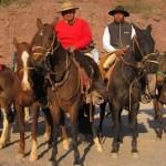 También cabalgan peregrinos a caballo desde San Carlos