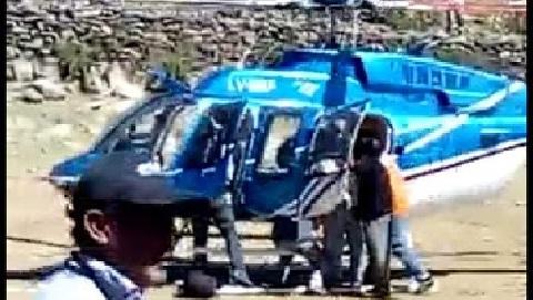 Trasladaron en helicóptero a un hombre que se accidentó en los Cerros