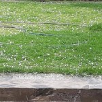 Tras un día agobiante llovió y cayó granizo