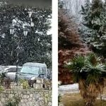 Por la primera nevada en Tafí del Valle cortan la ruta 307