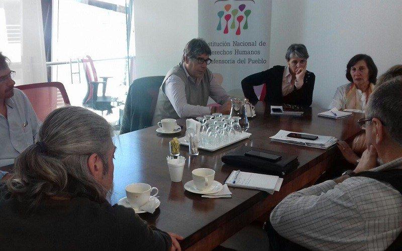 AEBU fue recibido por el Instituto Nacional de Derechos Humanos y Defensoría del Pueblo