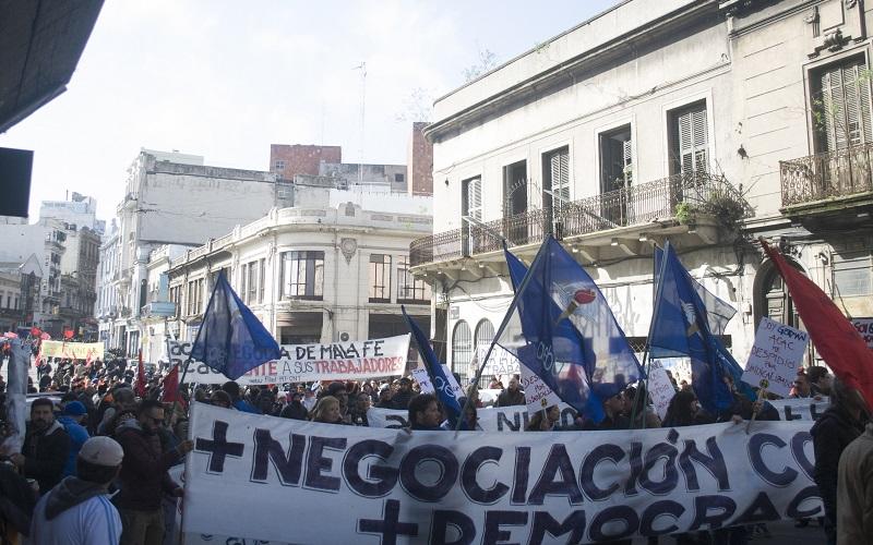 Movimiento sindical en pleno movilizado por Consejos de Salarios
