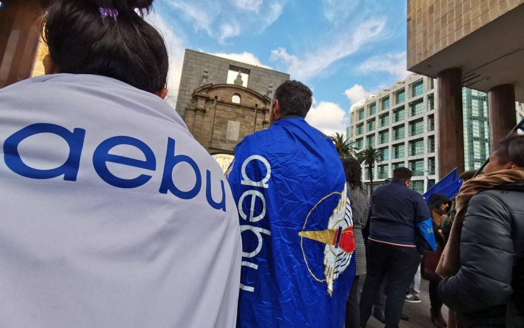 Voces de AEBU en defensa de la negociación colectiva