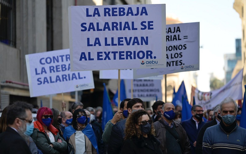 Gran movilización del sector financiero privado en defensa del empleo y el salario real