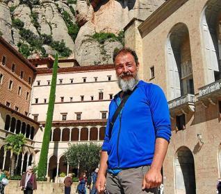L'Aleix, a la seva arribada a Montserrat