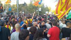 manifestació Barcelona vaga aturada referèndum