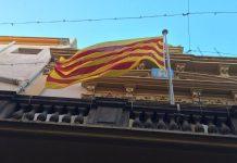 Senyera a l'Ajuntament de Palamós | Imatge d'arxiu