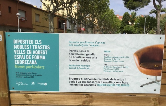 Recollida de Trastos - Camp d'en Prats a Palafrugell