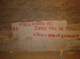 Pintades feixistes a Verges. Foto: Ignasi Sabater