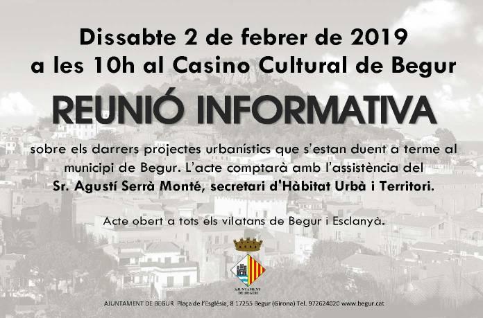 Reunió informativa dels projectes urbanístics a Begur