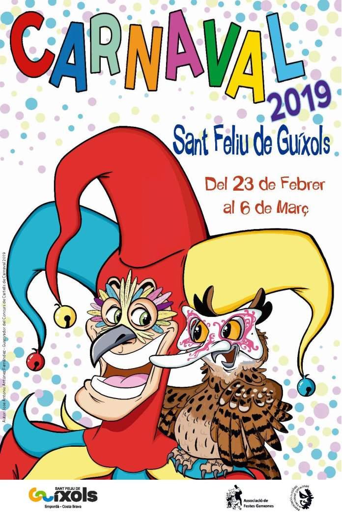 Cartell del Carnaval 2019 a Sant Feliu de Guíxols